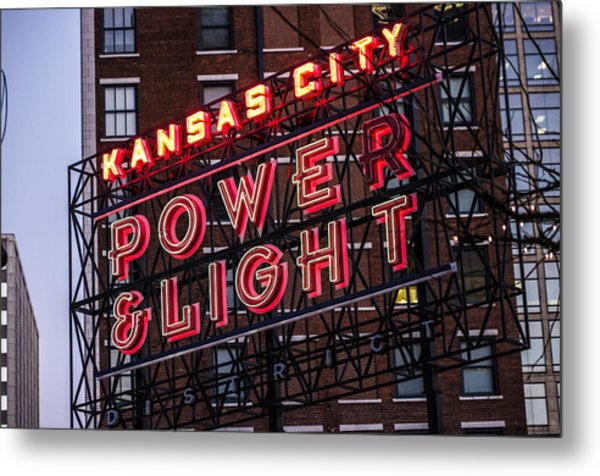 Kc Power And Light Metal Print