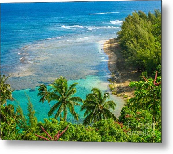 Kee Beach Kauai Metal Print
