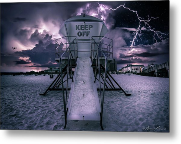 Keep Off Metal Print by Brent Shavnore
