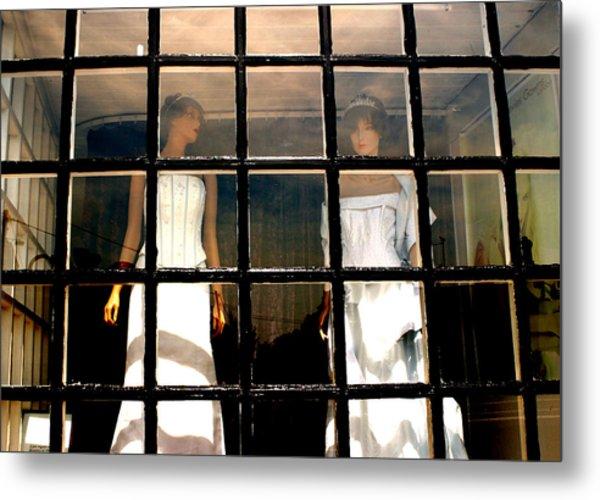 Keep Us Caged Metal Print by Jez C Self