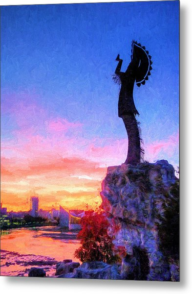 Keeper Of The Plains Metal Print