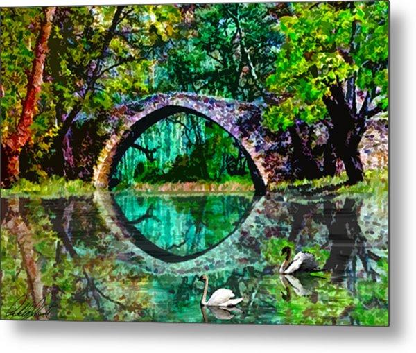 Kefalos Bridge Cyprus Metal Print