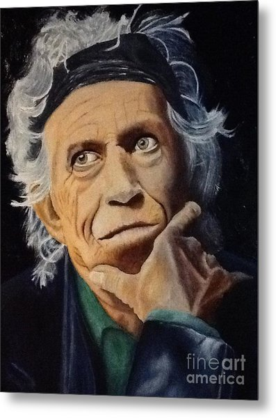 Keith Richards Portrait Metal Print