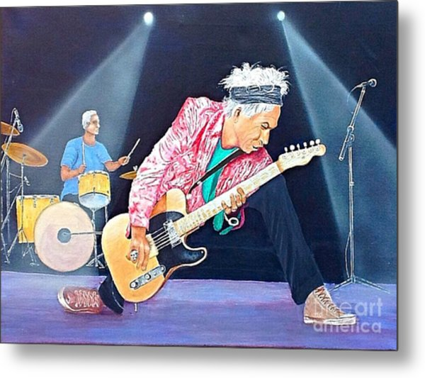 Keith Richards With Charlie Watts Metal Print