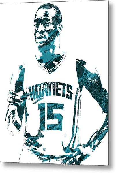 Kemba Walker Charlotte Hornets Pixel Art 4 Metal Print