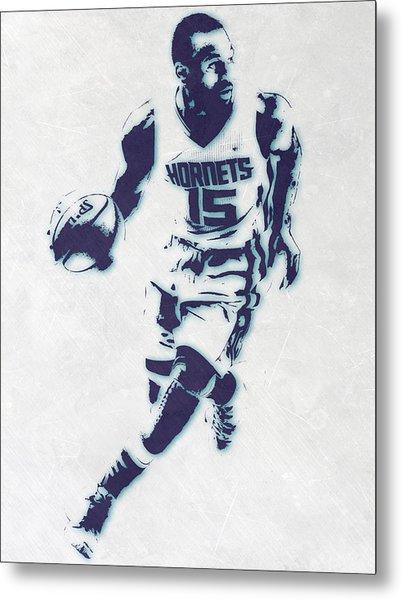 Kemba Walker Charlotte Hornets Pixel Art Metal Print
