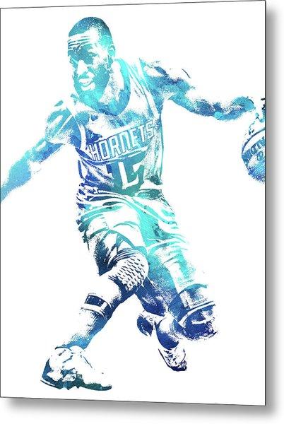 Kemba Walker Charlotte Hornets Water Color Pixel Art 1 Metal Print