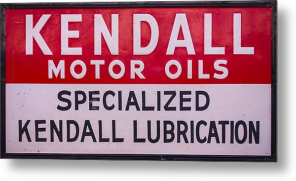 Kendall Motor Oils Sign Metal Print