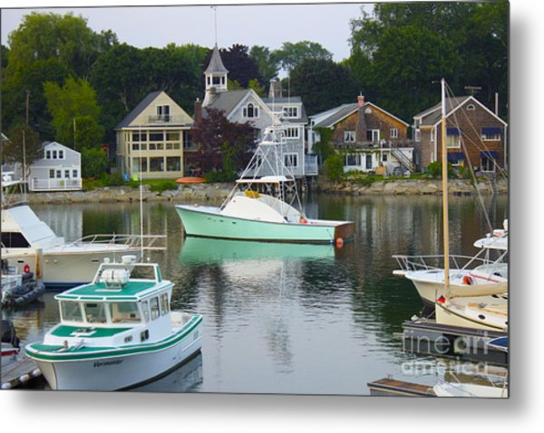 Kennebunkport Harbor Metal Print