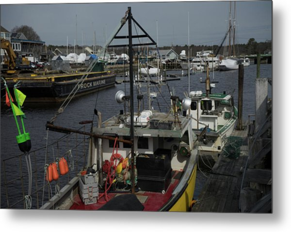 Kennebunkport Harbor In Early Winter Metal Print