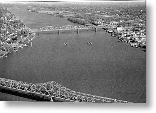 Kennedy Bridge Construction Metal Print