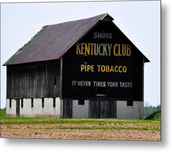 Kentucky Club Pipe Tobacco Barn Metal Print