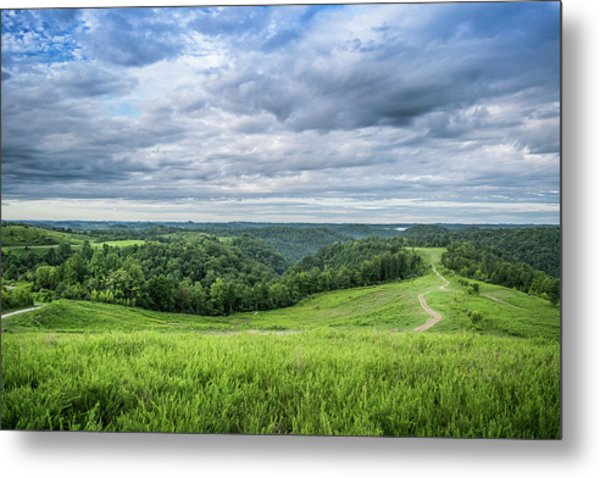 Kentucky Hills And Clouds Metal Print