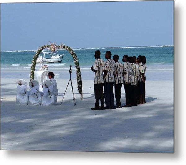 Kenya Wedding On Beach Singers Metal Print