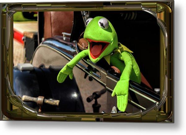 Kermit In Model T Metal Print