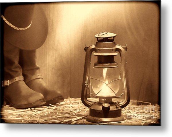 Kerosene Lamp Metal Print