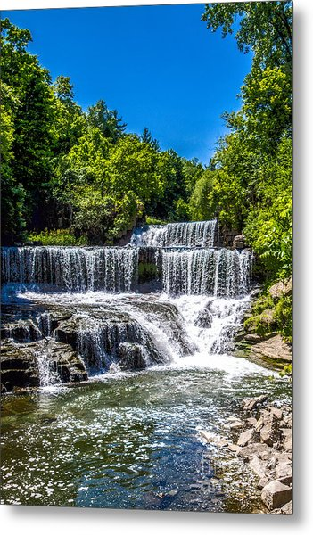 Keuka Outlet Waterfall Metal Print