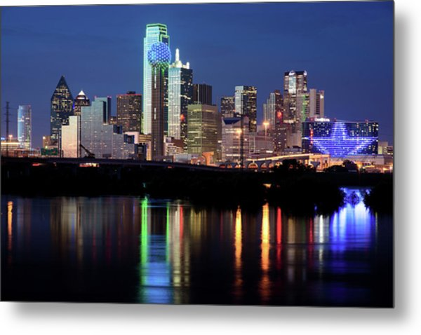 Kevin's Dallas Skyline Metal Print