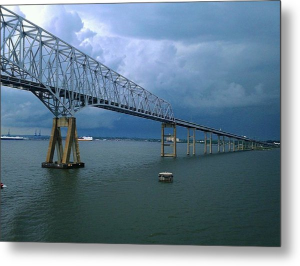 Key Bridge Metal Print