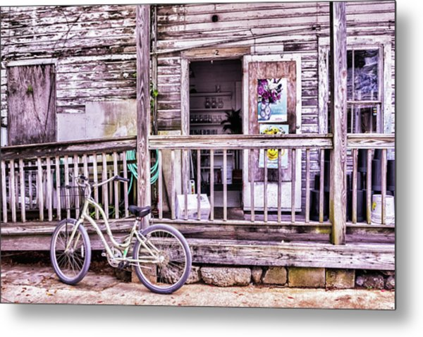 Key West Flower Shop Metal Print