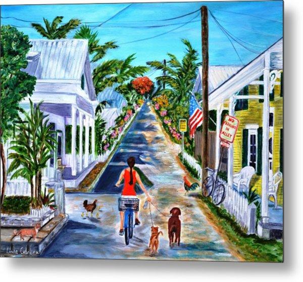 Key West Lane Metal Print