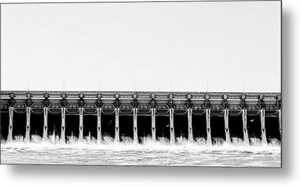 Keystone Dam Panoramic Metal Print