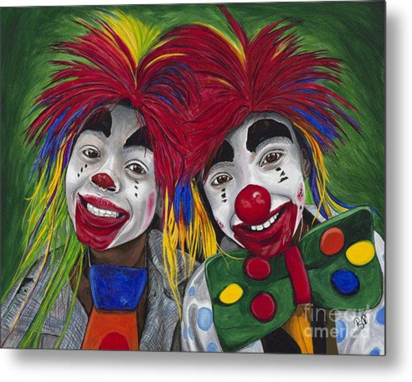 Kid Clowns Metal Print