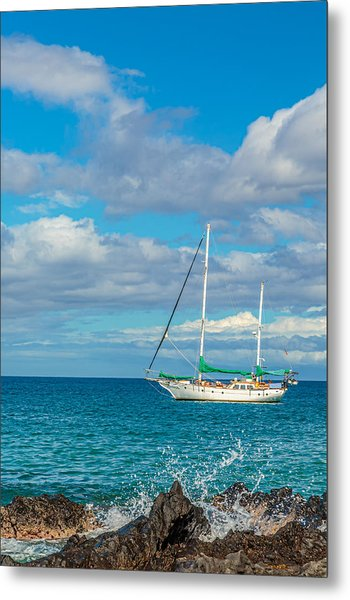 Kihei Sailboat 4 Metal Print