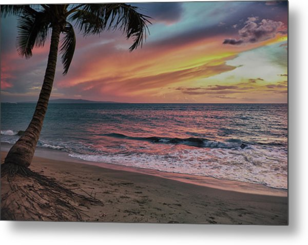 Kihei Sunset Metal Print