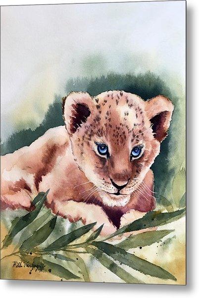 Kijani The Lion Cub Metal Print