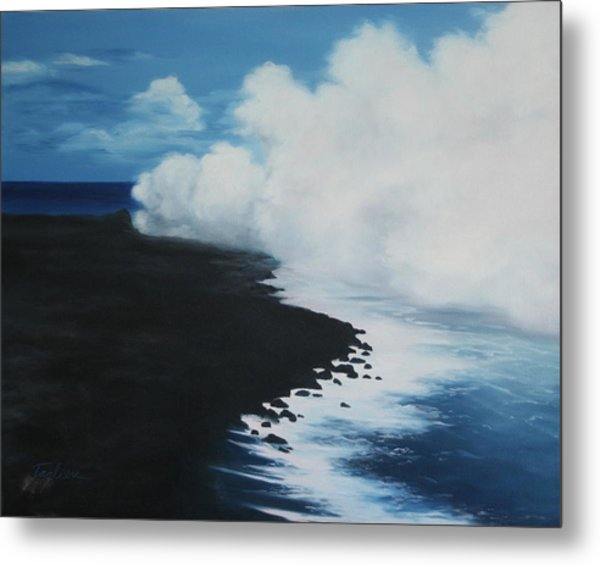Kilauea - Lava Meets The Ocean IIi Metal Print by Mary Taglieri