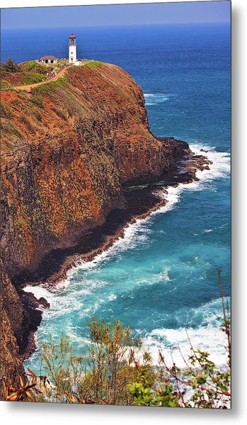 Metal Print featuring the photograph Kilauea Lighthouse On The Island Of Kauai, Hawaii, United States Of America          by Sam Antonio Photography