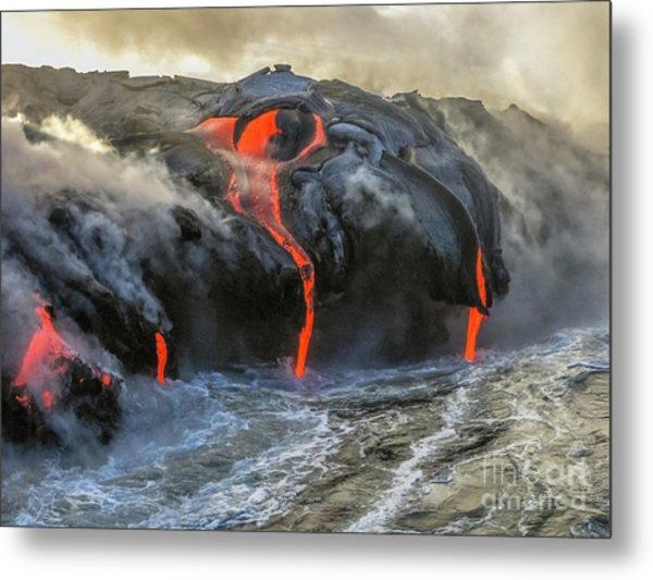 Kilauea Volcano Hawaii Metal Print