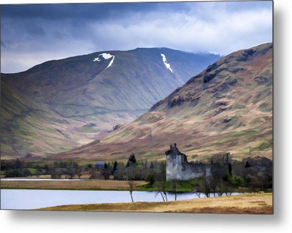 Kilchurn Castle On Loch Awe In Scotland Metal Print