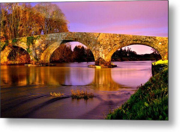 Kilsheelan Bridge At Night Metal Print