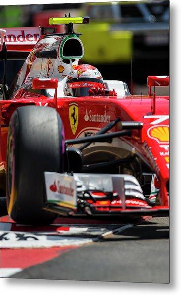 Kimi Raikkonen Ferrari  Metal Print