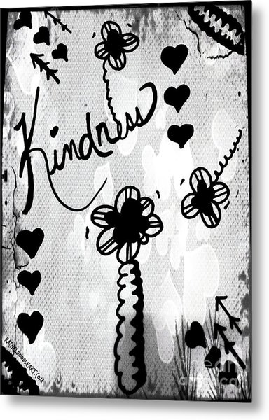 Metal Print featuring the drawing Kindness by Rachel Maynard