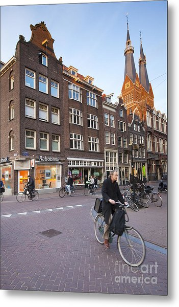 king a Walk in the Streets of Amsterdam Metal Print by Andre Goncalves