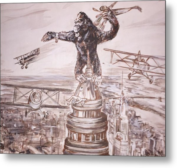 King Kong - Atop The Empire State Building Metal Print