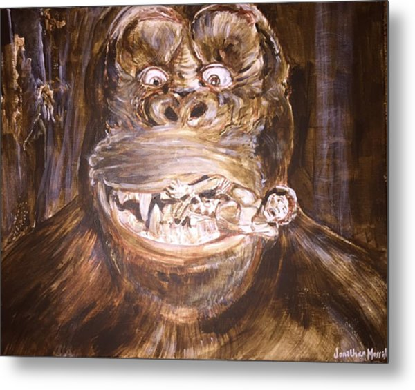 King Kong - Deleted Scene - Kong With Native Metal Print