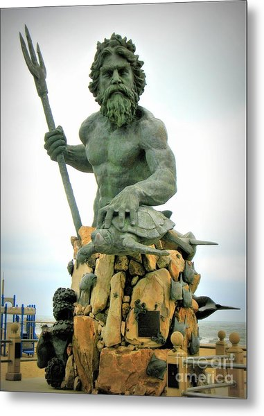 King Neptune Statue Metal Print