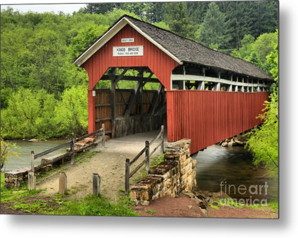 Kings Covered Bridge Somerset Pa Metal Print