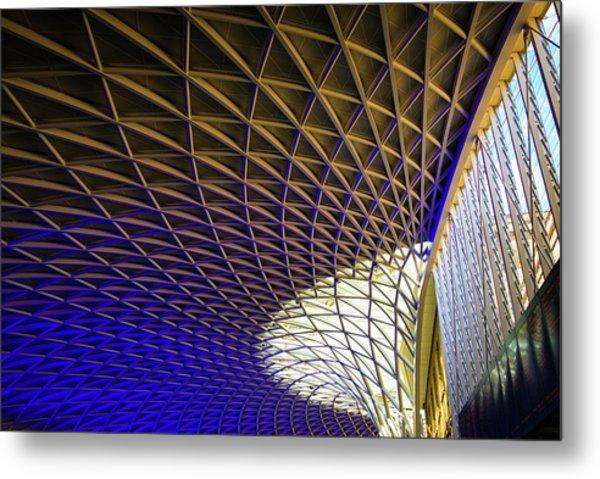 Kings Cross Railway Station Roof Metal Print