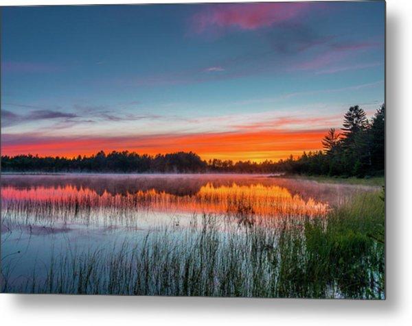 Kingston Lake Sunset Metal Print