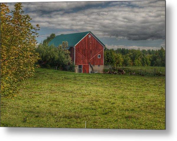 0039 - Kingston's Plain Road Cow Barn I Metal Print
