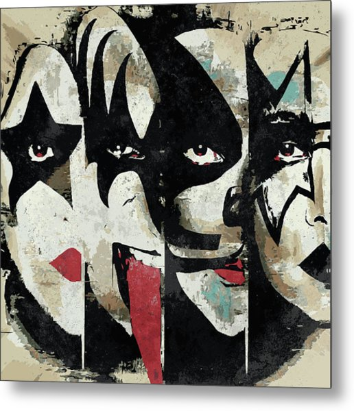 Kiss Art Print Metal Print
