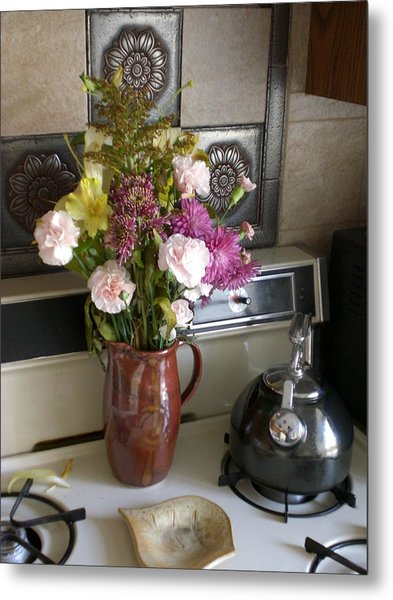 Kitchen In The Morning Metal Print