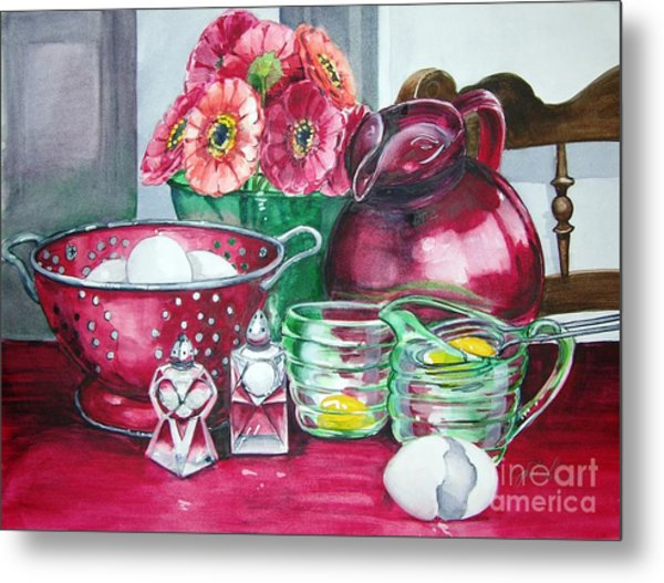 Kitchen Kitsch Metal Print