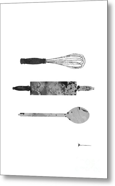 Kitchen Utensils Set Kitchen Decor Metal Print