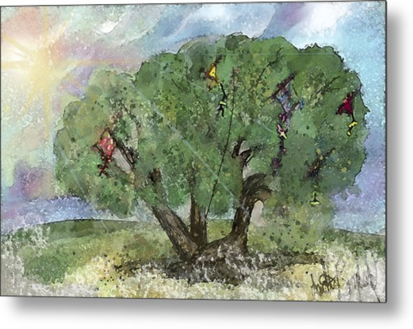 Kite Eating Tree Metal Print